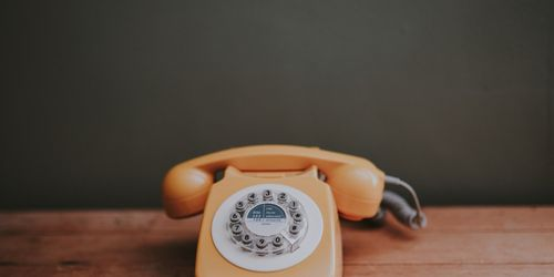 Rotary phone for calling to follow up after an interview