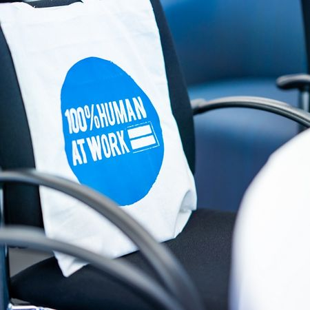 100% Human at Work event